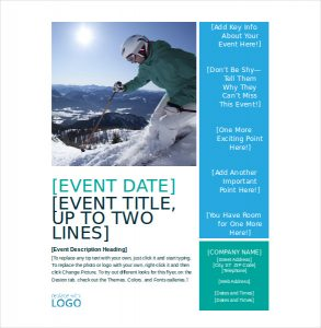 flyer templates word winter seasonal event flyer