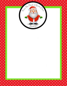 folding card template from santa blank letterhead copy