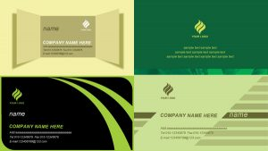 folding card templates simple business card template psd