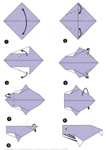 folding cards templates how to make whale paper folding instructions paper craft