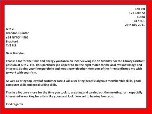 follow up email after interview an interview thank you letters template