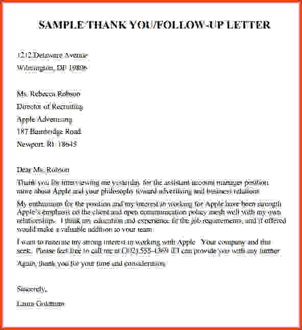 Follow Up Email After Interview Template Template Business