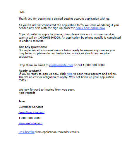 Follow Up Email Example | Template Business