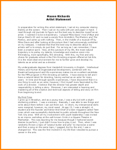 followup email example sample artist statement sample artist statement l