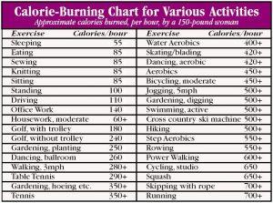 food calorie chart calorie counter chart