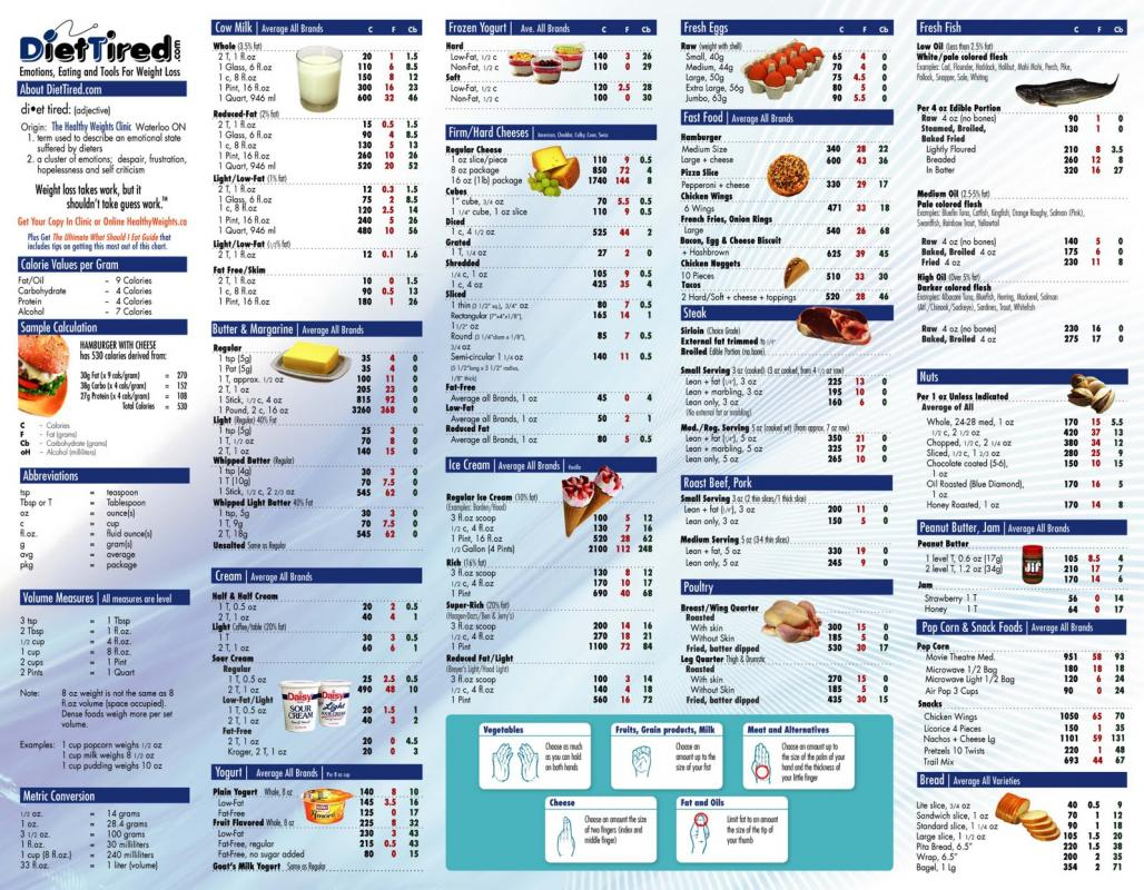 Food calorie chart template business food calorie chart nvjuhfo Gallery