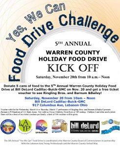 food drive flyer kick off flyer