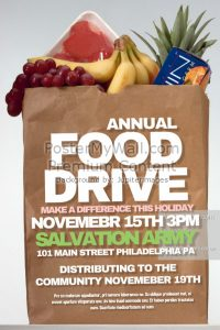 food drive flyer customized food drive flyer