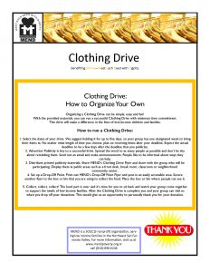 food drive flyers how to organize a clothing drive page