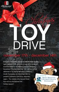 food drive flyers toy drive flyer front