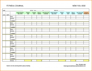 food journal pdf exercise journal