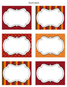 food label template free thanksgiving food labels printable