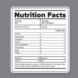 food label template illsm f