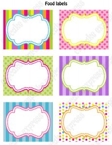 food label template kara s party ideas kids birthday party themes