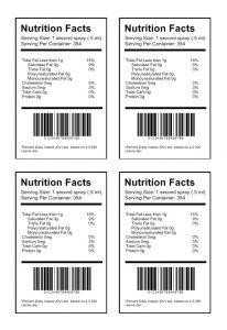 food label template nutritionb