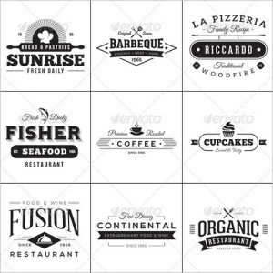 food label template vintage style food label template