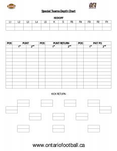 football depth chart template blank football depth chart template