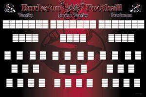 football depth chart template burleson depth chart