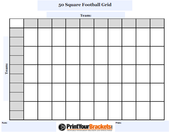 picture about Printable Football Grid called Soccer Squares Template Excel Template Company