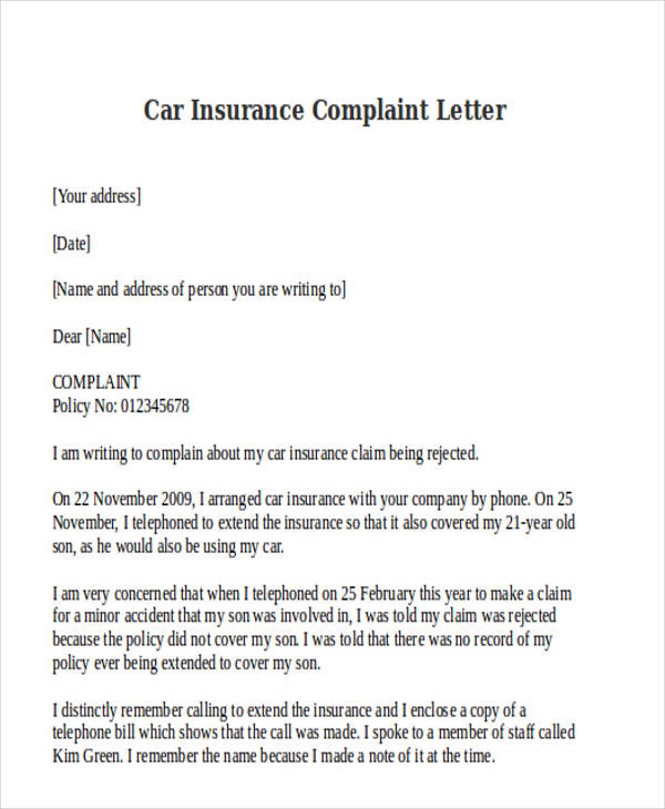 Car Insurance Policy Guidelines