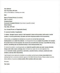 Formal complaints letter template business formal complaints letter formal complaint letter sample spiritdancerdesigns Images
