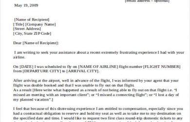 formal complaints letter formal complaint letter to airline