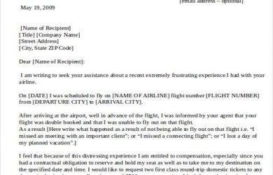 formal complaints letter formal complaint letter to airline