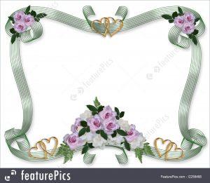 formal invitation templates floral border wedding invitation stock illustration