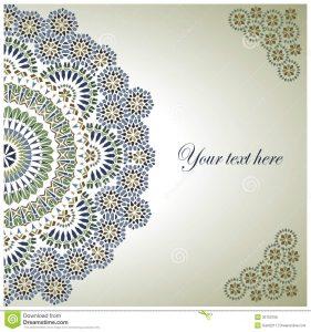 formal invitation templates vintage background traditional ottoman motifs vector illustration
