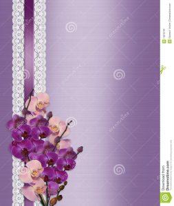 formal invitation templates wedding invitation orchids lavender satin