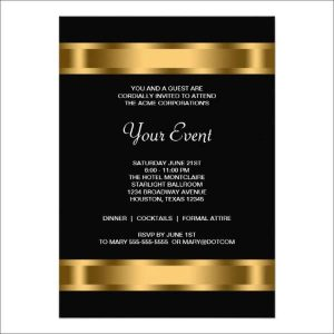 formal invite templates free work dinner invitation