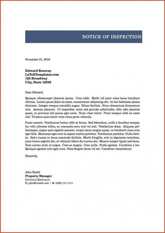 formal letter heading
