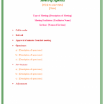 formal report template business templates formal business meeting agenda template sample