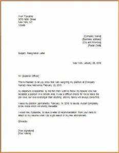 formal resign letter template model for resignation letter letter of resignation to fo