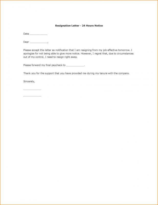 formal resign letter template