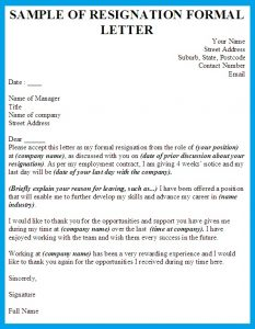 formal resignation letter writing a formal letter of resignation reason for formal resignation letter sample resign from job application outline blue color wording title header