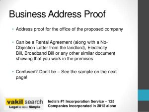 format business letter documents needed for company incorporation