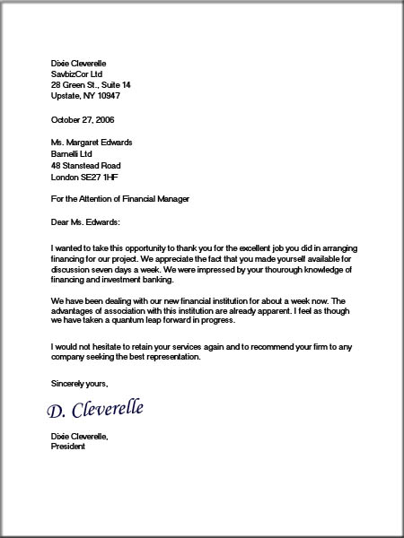 busines letter template