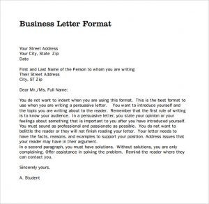 Delicieux Format For Business Letter Sample Professional Business Letter Pdf