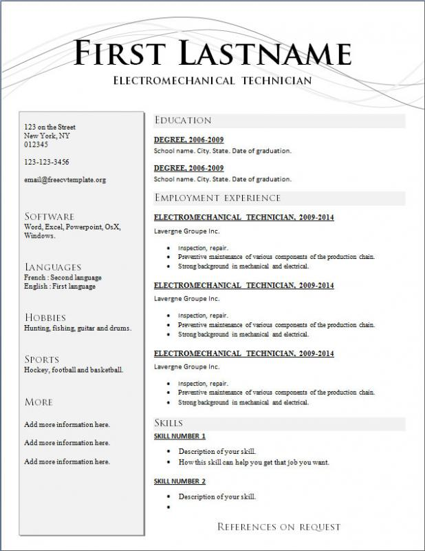 Format For Resume | Template Business
