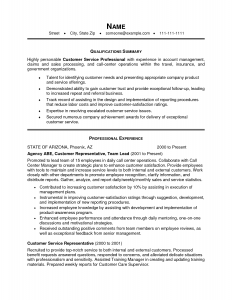 format of a resume customer service professional experience in account management example summary qualif