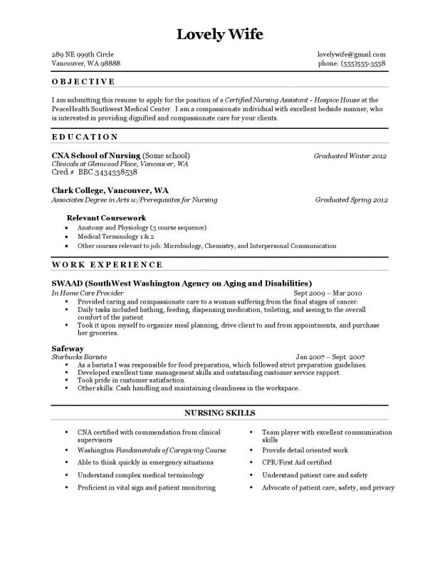 format of a resume
