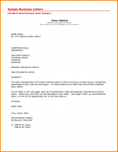 format of business letter letter address format attn