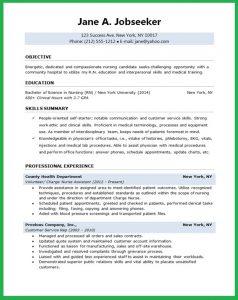 format of reume nursing student resume