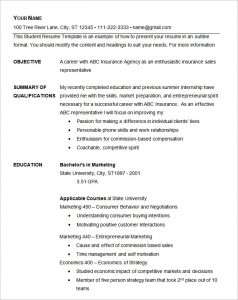 format of rsume basic resume template free