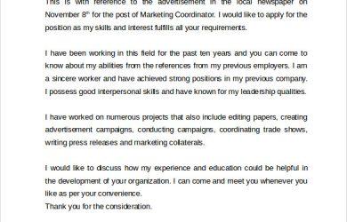 formats of resume marketing coordinator cover letter