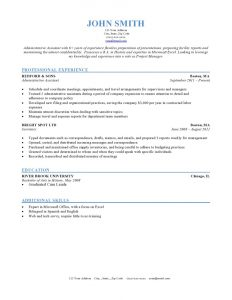 formatting a resume chronological sample