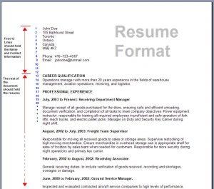 formatting a resume reseume format d