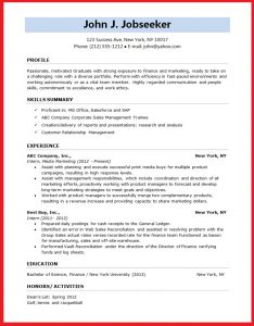 formatting a resume resume format for student