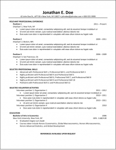 formatting a resume resume format samples